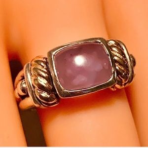 14KT Yellow Gold & Chalcedony Ring w SS 925
